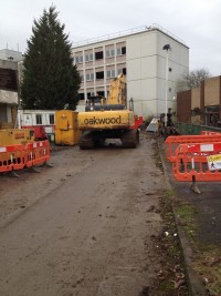 Construction works underway at London Road South